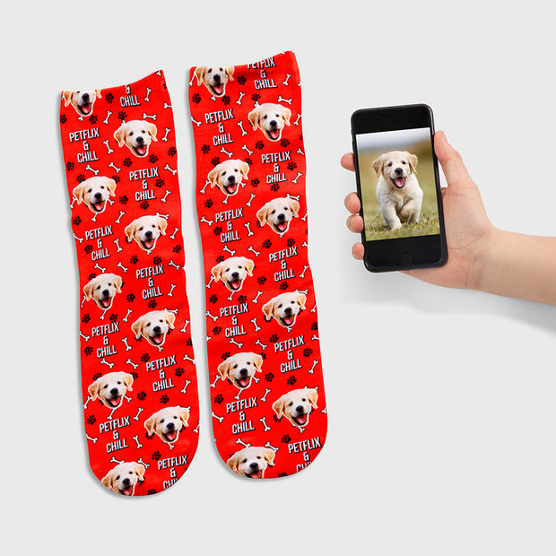 Petflix and Chill socks