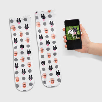 Dog & Owner Polka Dog Socks