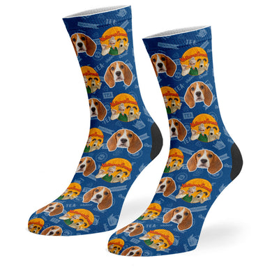 Wallace & Gromit Logo Socks