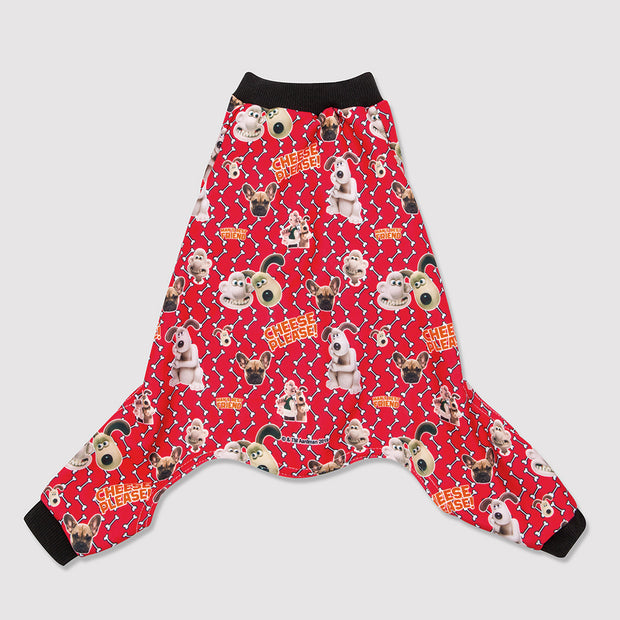 Wallace & Gromit 'Cheese Please' Dog Pyjamas