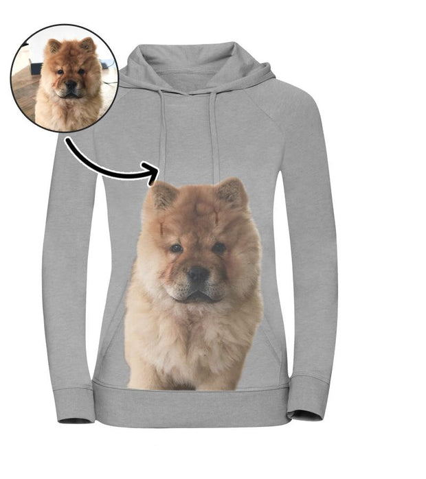 Dog Face Ladies Hoodie