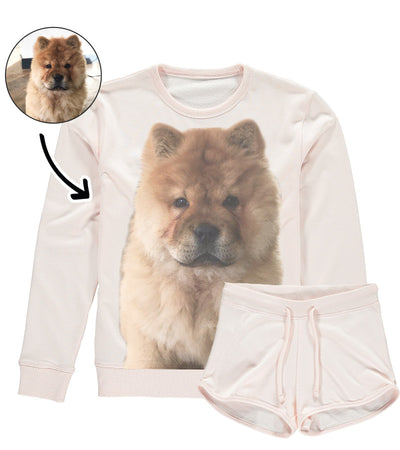 Dog Face Ladies Loungewear Short Set