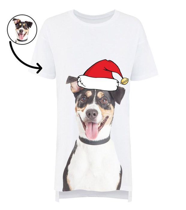 Dog Face Ladies Christmas Nightshirt
