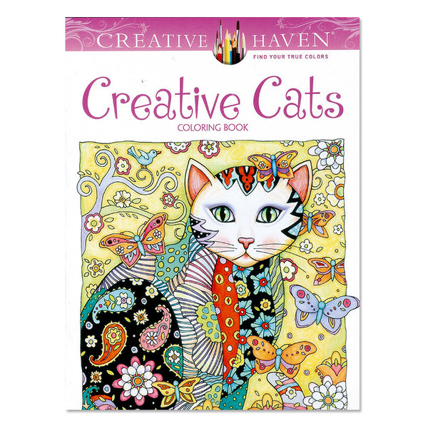 DIY-ADULT COLORING BOOK-CREATIVE CATS
