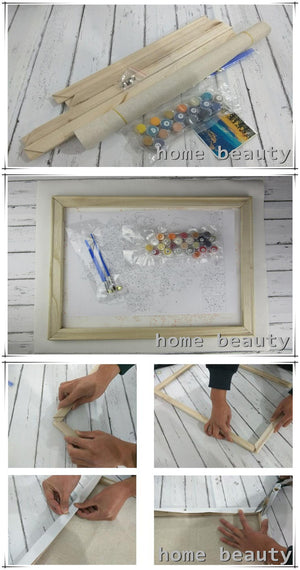 DIY-PAINT BY NUMBERS-WATERFRONT CITY