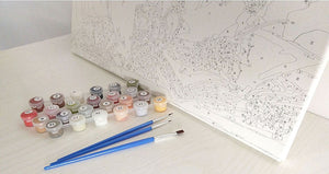 DIY-PAINT BY NUMBERS-ISLAND HOUSE