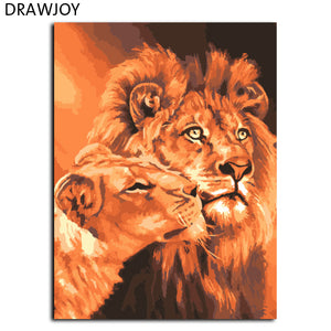 DIY-PAINT BY NUMBERS-LIONS