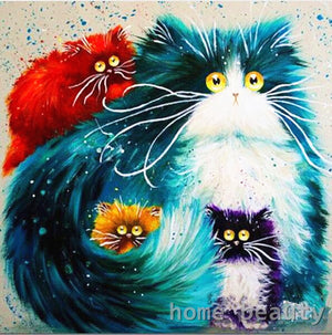 DIY-PAINT BY NUMBERS-FAT CAT