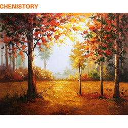 DIY-PAINT BY NUMBERS-AUTUMN TREES