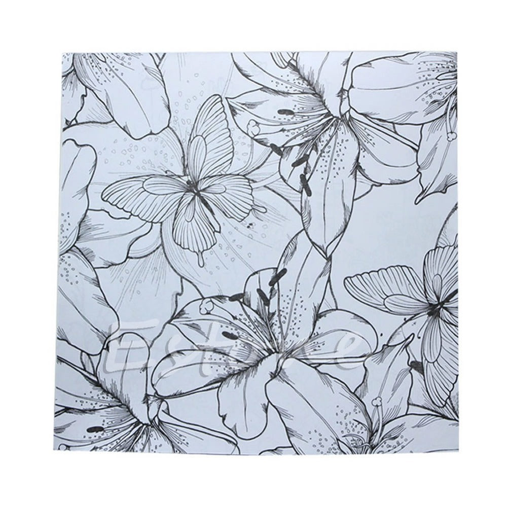 DIY ADULT COLORING BOOKS FLOWERS