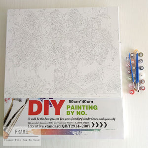 DIY-PAINT BY NUMBERS-RUNNING HORSE
