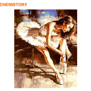 DIY-PAINT BY NUMBERS-BALLET DANCER