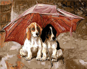 DIY-PAINT BY NUMBERS-RAINY DOGGY DAY