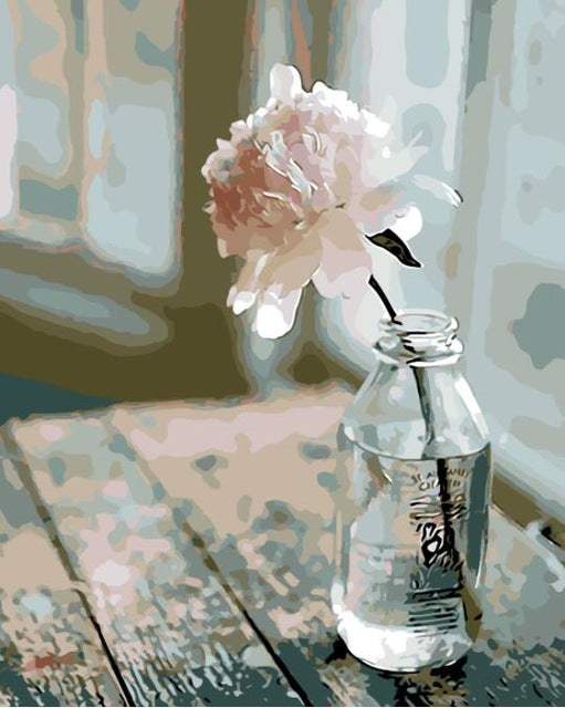 DIY-PAINT BY NUMBERS-PEACEFUL FLOWER