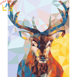 DIY-PAINT BY NUMBERS-COLORFUL DEER