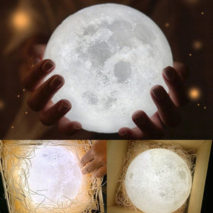 LED Touch Control USB Charging MOON Lamp