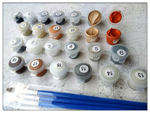 DIY-PAINT BY NUMBERS-DONKEY