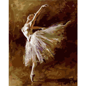 DIY-PAINT BY NUMBERS-BALLET