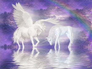 DIY-DIAMOND PAINTING/PAINT WITH DIAMONDS-ANGEL UNICORNS