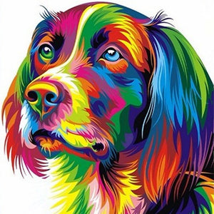 DIY-PAINT WITH DIAMONDS-COLORFUL DOG