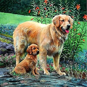 DIY-PAINT WITH DIAMONDS-DOG BUDDIES