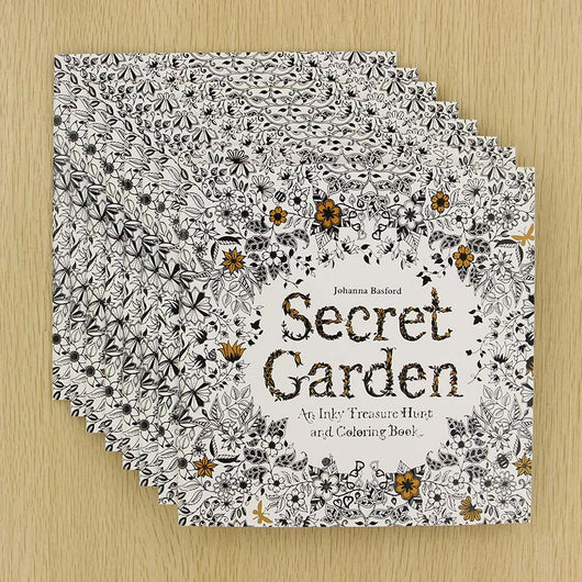 DIY-ADULT COLORING BOOK-SECRET GARDEN