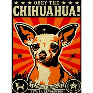 DIY-DIAMOND PAINTING/PAINT WITH DIAMONDS-OBEY THE CHIHUAHUA