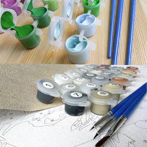 DIY-PAINT BY NUMBERS-UNICORN