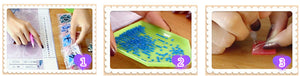 DIY-DIAMOND PAINTING/PAINT WITH DIAMONDS-RAINBOW GIRAFFES