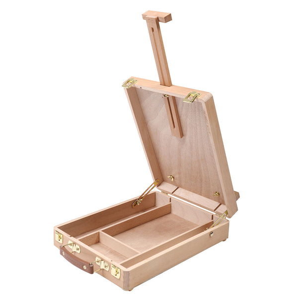 Handcrafted Wooden Tabletop Artist Box/Easel