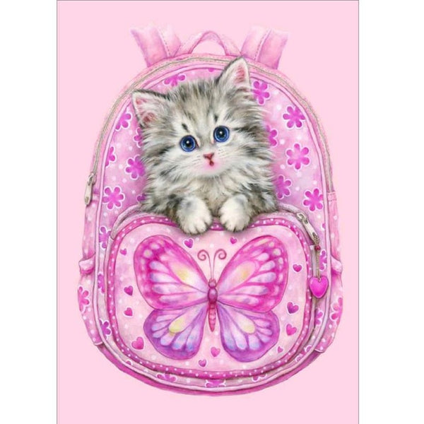 DIY-PAINT WITH DIAMONDS-KITTY BACKPACK