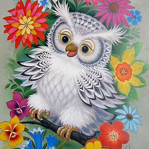 DIY-DIAMOND PAINTING/PAINT WITH DIAMONDS-OWL