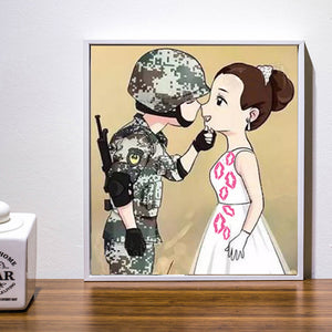 DIY-DIAMOND PAINTING/PAINT WITH DIAMONDS-SOLDIER'S LOVE