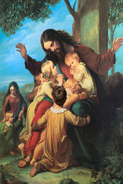 DIY-DIAMOND PAINTING/PAINT WITH DIAMONDS-JESUS AND THE CHILDREN