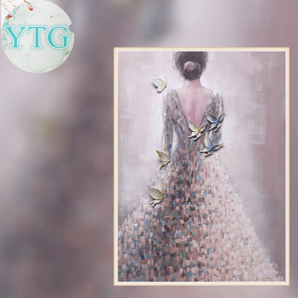 DIY-DIAMOND PAINTING/PAINT WITH DIAMONDS-BEAUTIFUL BRIDE