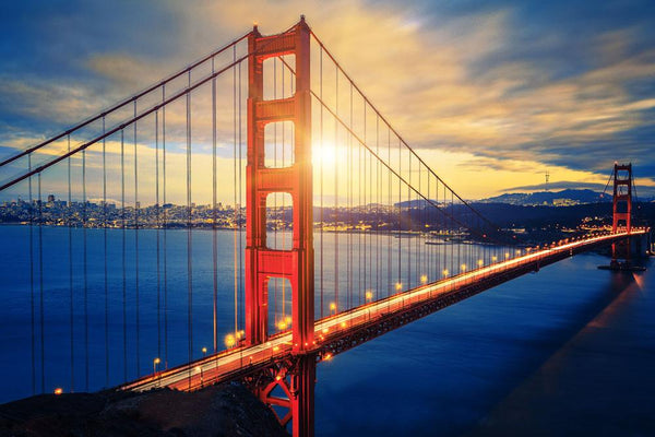 DIY-DIAMOND PAINTING/PAINT WITH DIAMONDS-GOLDEN GATE BRIDGE