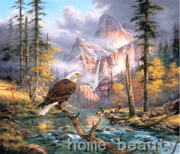 DIY-DIAMOND PAINTING/PAINT WITH DIAMONDS-MAJESTIC EAGLE