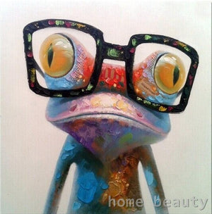 DIY-PAINT BY NUMBERS-CURIOUS FROG