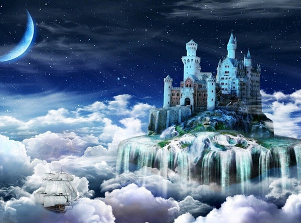 DIY-DIAMOND PAINTING/PAINT WITH DIAMONDS-CASTLE IN THE CLOUDS