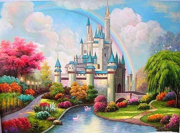 DIY-DIAMOND PAINTING/PAINT WITH DIAMONDS-MAGICAL CASTLE