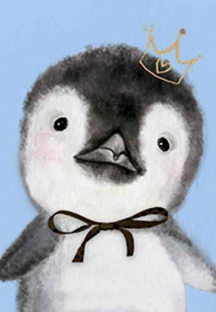 DIY-DIAMOND PAINTING/PAINT WITH DIAMONDS-BABY PENGUIN