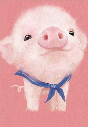 DIY-DIAMOND PAINTING/PAINT WITH DIAMONDS-LITTLE PIGGY