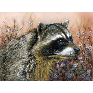 DIY-DIAMOND PAINTING/PAINT WITH DIAMONDS-RACCOON