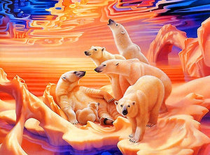DIY-DIAMOND PAINTING/PAINT WITH DIAMONDS-POLAR BEARS