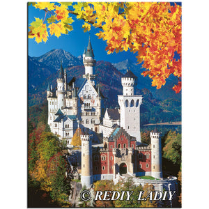 DIY-DIAMOND PAINTING/PAINT WITH DIAMONDS- NEUSCHWANSTEIN CASTLE