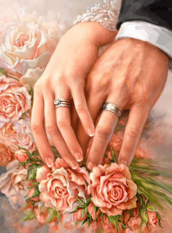 DIY-DIAMOND PAINTING/PAINT WITH DIAMONDS-NEWLYWEDS