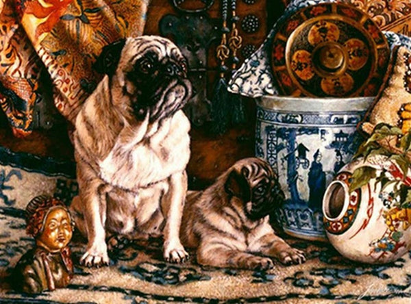 DIY-DIAMOND PAINTING/PAINT WITH DIAMONDS-PUGS
