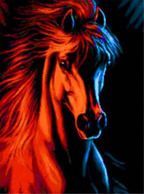 DIY-DIAMOND PAINTING/PAINT WITH DIAMONDS-STALLION