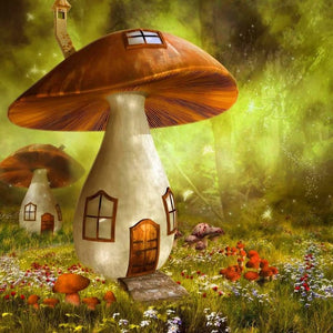 DIY-DIAMOND PAINTING/PAINT WITH DIAMONDS-MAGIC MUSHROOM HOUSE