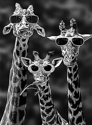 DIY-DIAMOND PAINTING/PAINT WITH DIAMONDS-GIRAFFE SHADES